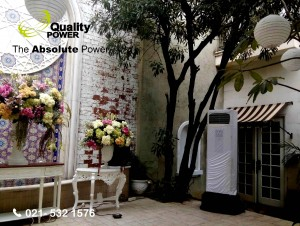 AC, Genset & Misting Fan supported by Quality Power Happy Wedding at Maroko House, Jakarta, 26 March 2017.