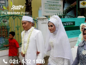 Rental AC, Genset & Cooling Fan supported by Quality Power  Happy Wedding of widia & Elyas at Pondok Ragon Jakarta. 02 Desember 2017.