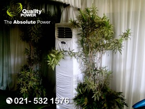 Rental AC, Genset & Misting Fan supported by Quality Power Happy Wedding at Puri Kembangan Jakarta. 12 November 2017.