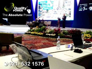 Rental AC, Genset, Sound System supported by Quality Power, Gaikindo Indonesia International Auto Show