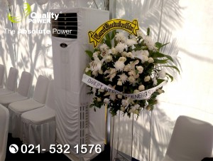 Rental AC, Genset & Tent supported by Quality Power, Deepest Condolences at Karinda Plaza Jakarta, 08 April 2018.