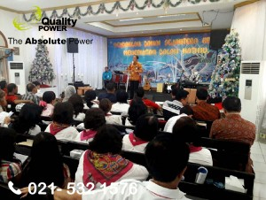Rental AC & Genset supported by Quality Power CHRISTMAS CELEBRATION at LP Pria Dewasa, Tangerang. 16 December 2017.