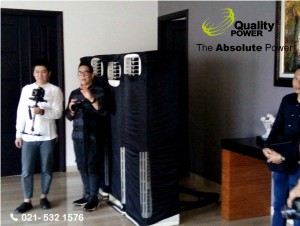 Rental AC & Genset supported by Quality Power Engagement at Artha Gading Villa - Jakarta, 3rd March 2017.