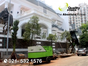 Rental AC & Genset supported by Quality Power Home Party at Artha Graha Villa , Jakarta, 22 October 2017.