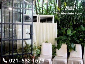 Rental AC & Genset supported by Quality Power, Home Party at Hang Tuah Road, Jakarta, 25 January 2018.