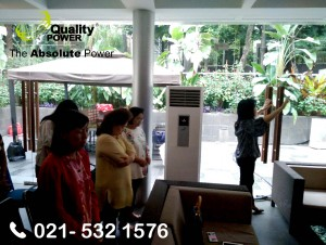 Rental AC & Genset supported by Quality Power, LOF National Prayer Meeting at Sport Club Residence 28, Jakarta, 19 February 2018.