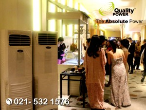 Rental AC, Genset supported by Quality Power Wedding of Hendry & Jasmine at Pullman Hotel Jakarta. 18 November 2017.