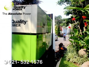Rental AC & Genset supported by Quality Power Wedding of Ninik & Arif at Pondok Indah, Jakarta, 22 October 2017.