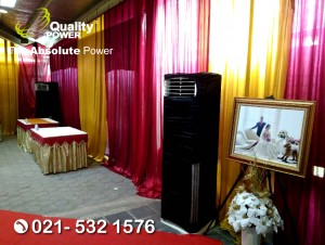 Rental AC, Genset supported by Quality Power wedding of Ev Dira & Pdm Nehemia at GIA Rajawali Selatan, Jakarta, 08 July 2017.