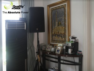 Rental AC & Sound system supported by Quality power indonesia