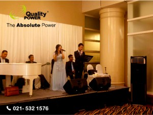 Rental AC by Quality Power Happy Wedding of Michael & Angel at Ritz Carlton Jakarta, 15 January 2017.