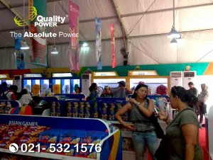 Rental AC supported by Quality Power, Asian Fest Booth Super Store Asian Games 2018 at Stadion Gelora Bung Karno Jakarta, 18 Aug s.d. 2 Sep 2018.
