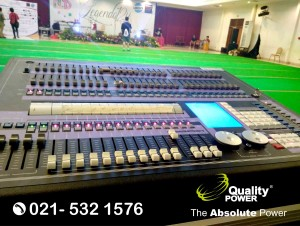 Rental Lighting supported by Quality Power, National Radio Day 2018 at Desa Wisata TMII Jakarta, 04 April 2018.
