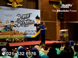 Rental Sound Syatem supported by Quality Power Pajak Bertutur at KPP Madya Jakarta, 11 August 2017.
