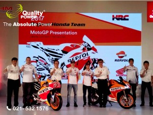 Rental Sound System supported by Quality Power 2017 Repsol Honda Team MotoGP Presentation at JIExpo Jakarta, 03 February 2017.