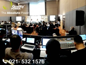 Rental Sound System supported by Quality Power, Bank Negara Indonesia at Aston, Sentul Bogor, 23 February 2018.