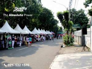 Rental Sound System supported by Quality Power Bazaar at Manggarai Jakarta, 17 June 2017.