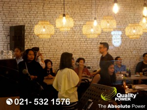 Rental Sound System supported by Quality Power Birthday Party at Kedai Kopi Mikro Jakarta, 01 September 2017.