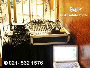 Rental Sound System supported by Quality Power Birthday Party at Ritz Carlton Hotel Jakarta, 19 May 2018