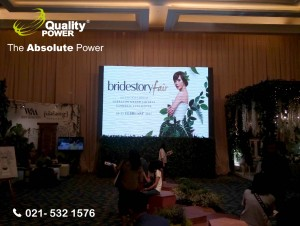 Rental Sound System supported by Quality Power Bridestory Fair at Grand Ballroom Sheraton Gandaria City Jakarta, 10 February 2017.