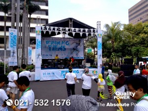 Rental Sound System supported by Quality Power, Car Free Day at Patung Sudirman Jakarta, 22 April 2018.