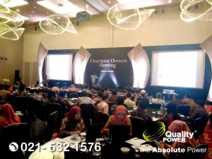 Rental Sound System supported by Quality Power, Charterer Owners Meeting at Double Tree Hotel Jakarta, 21 March 2018.