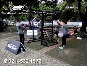 Rental Sound System supported by Quality Power Evolution Fitcam at Senayan Golf Driving Range Jakarta. 19 November 2017.
