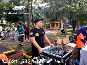Rental Sound System supported by Quality Power, Family Gathering at Wisma 46 BNI Kota, Jakarta, 25 February 2018.