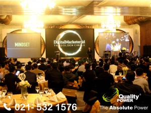 Rental Sound System supported by Quality Power Gala Dinner Digital Marketing. Id 2017 at Le Meridian Hotel Jakarta. 02 December 2017.