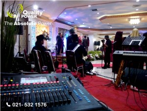Rental Sound System supported by Quality Power Happy Wedding Ain & Thamir at Wisma Menpora Jakarta,11 March 2017.