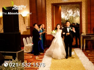 Rental Sound System supported by Quality Power  Happy Wedding at JW Marriott Jakarta, 09 September 2017.