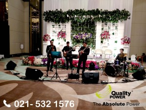 Rental Sound System supported by Quality Power, Happy Wedding at de Margo Depok, 25 February 2018.