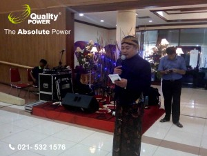 Rental Sound System supported by Quality Power Happy Wedding of Nilam & Panggih at Aneka Baktii 2 Building - Bekasi, 18 February 2017.