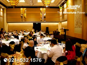 Rental Sound System supported by Quality Power Homeowner Appreciation Dinner Country Garden Danga Bay, Johor Bahru, Malaysia at Grand Hyatt, Jakarta