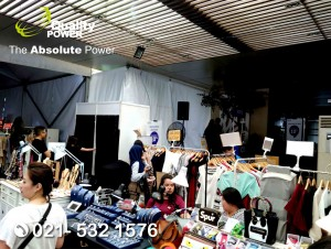 Rental Sound System supported by Quality Power, Lauching Product at Marketing PIK Gallery Jakarta, 08 April 2018.
