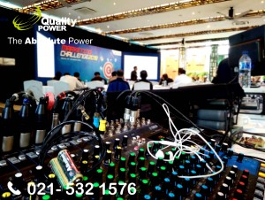 Rental Sound System supported by Quality Power, Marketing Challenge 2018 at Ritz Carlton, Jakarta, 27 February 2018.