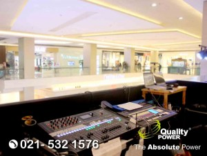 Rental Sound System supported by Quality Power NOKIA SHOW at Atrium Kokas Jakarta, 27 May 2018