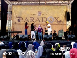Rental Sound System supported by Quality Power Paradox 2018 at SMA Negeri 7 Depok, 12 May 2018