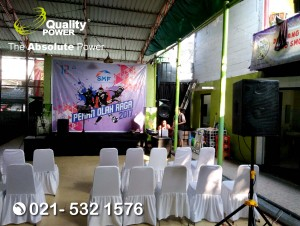 Rental Sound System supported by Quality Power Pekan Olah Raga 2017 at Planet Futsal Jakarta, 22 July 2017.