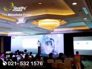 Rental Sound System supported by Quality Power, Seminar at Shangri-la, Jakarta, 01 March 2018.