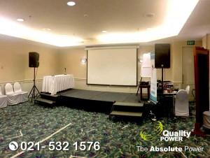 Rental Sound System supported by Quality Power Seminar at Sheraton Bandara Tangerang, 06 June 2018