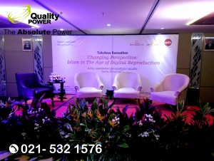 Rental Sound System supported by Quality Power Talkshow Ramadan at Grandhika Hotel Jakarta, 20 June 2017.