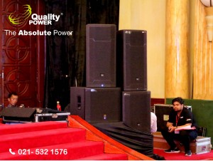 Rental Sound System' supported by Quality Power The Wedding Fair at Balai Samudra Jakarta, 09 April 2017.
