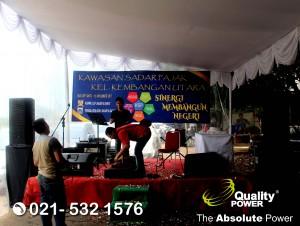 Rental Sound System supported by Quality Power Wawasan Sadar Pajak at RPTRA Kembangan Utara Jakarta. 18 November 2017.