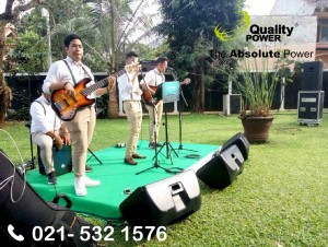 Rental Sound System supported by Quality Power, Wedding Reception at Batu Road, Jakarta, 18 February 2018.