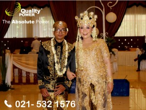 Rental Sound System supported by Quality Power Wedding of A. Haryo Puja Siswono & Methamphetamine at Soekarno Hatta Hall BIN Jakarta. 02 December 2017
