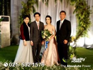 Rental Sound System supported by Quality Power, Wedding of Brandzo & Rinaldi at Segera Ancol Jakarta, 18 March 2018.