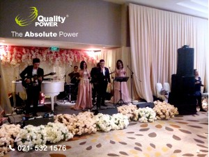 Rental Sound System supported by Quality Power Wedding of Indra & Vivi at Ballroom Pullman Hotel Thamrin Jakarta, 26 May 2017.