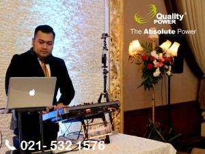 Rental Sound System supported by Quality Power, Wedding of Sonya & Lutfi at Patra Jasa Building, Jakarta, 21 January 2018.