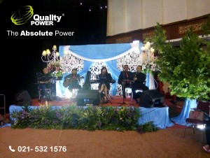 Rental Sound system supported by Quality Power  Happy Wedding William & Renny at Puri Ardhya Garini - Jakarta, 26 February 2017.